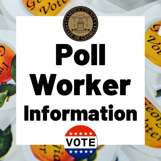 "Image of Georgia Voter Stickers with text ""Poll Worker Information"""