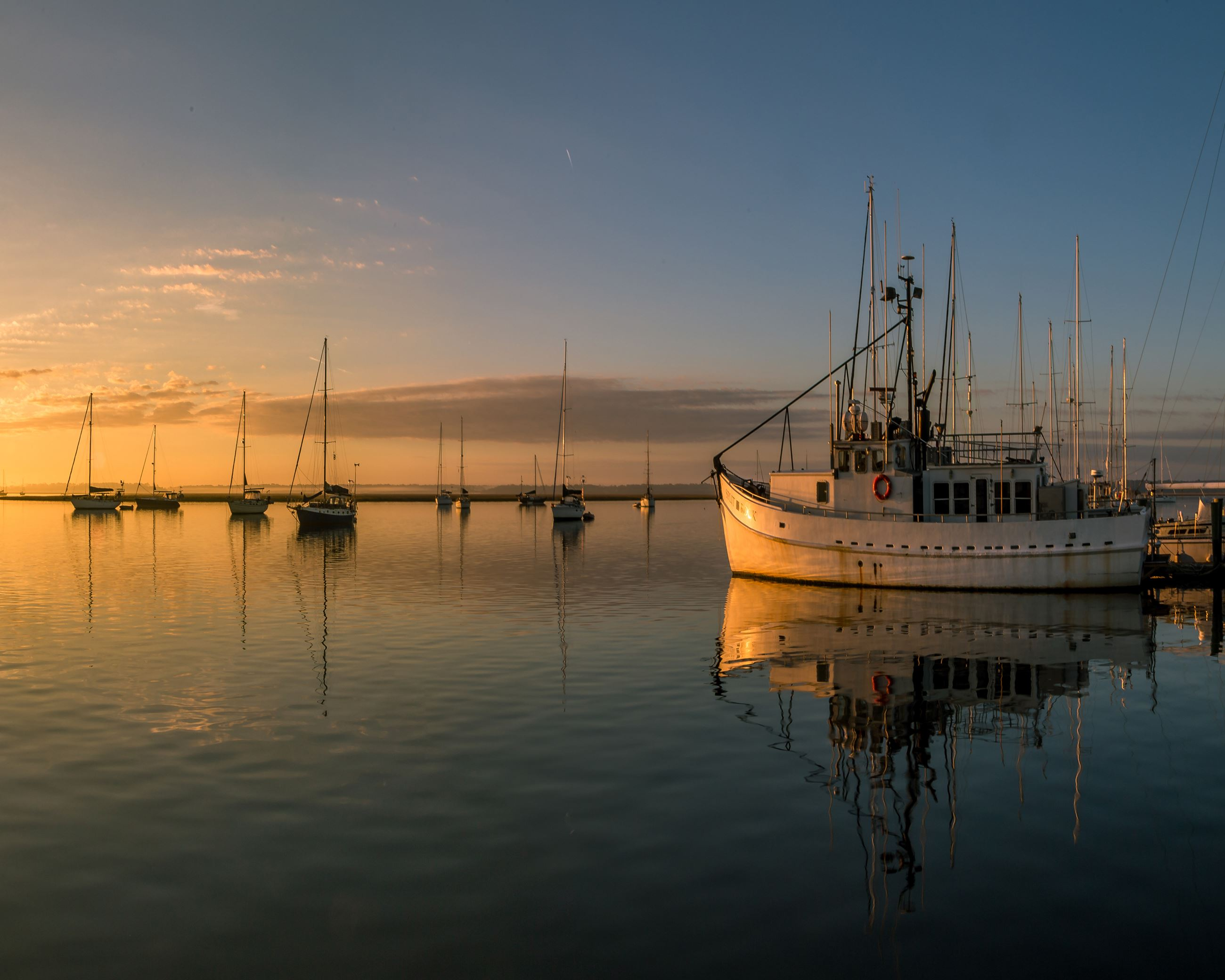 Derek Bradley Shrimp boats at St. Marys Marina