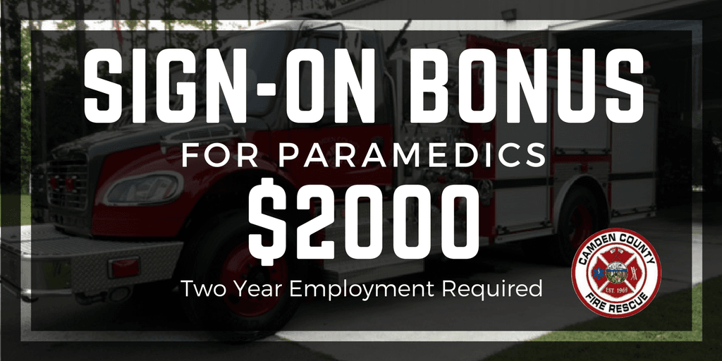 CCFR Paramedic Sign-On Bonus