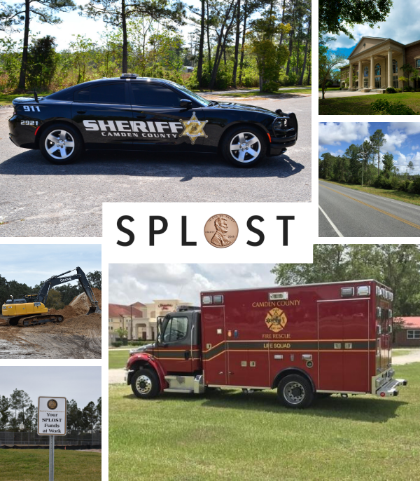 Images of SPLOST VII Projects including ambulances, Sheriff&#39s Office patrol vehicles
